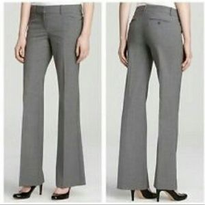 Theory Gray Wool Flared Dress Pants